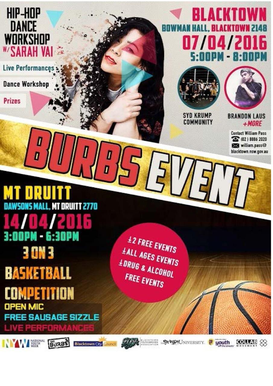 Free BURBS Events in Blacktown and MtDruitt - Niland School